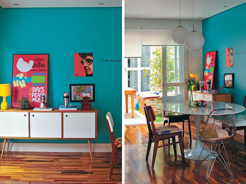 Parede azul tiffany parede azul turquesa casa casada for Pintura turquesa pared