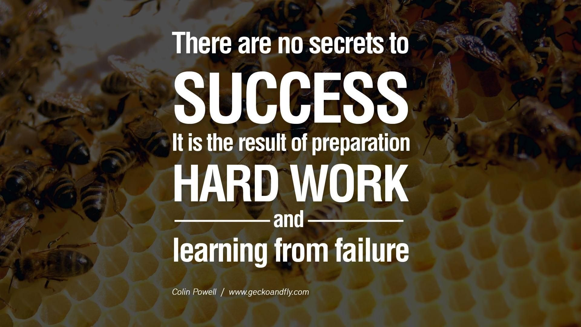 There are no secrets to success. It is the result... | Pinterest ...