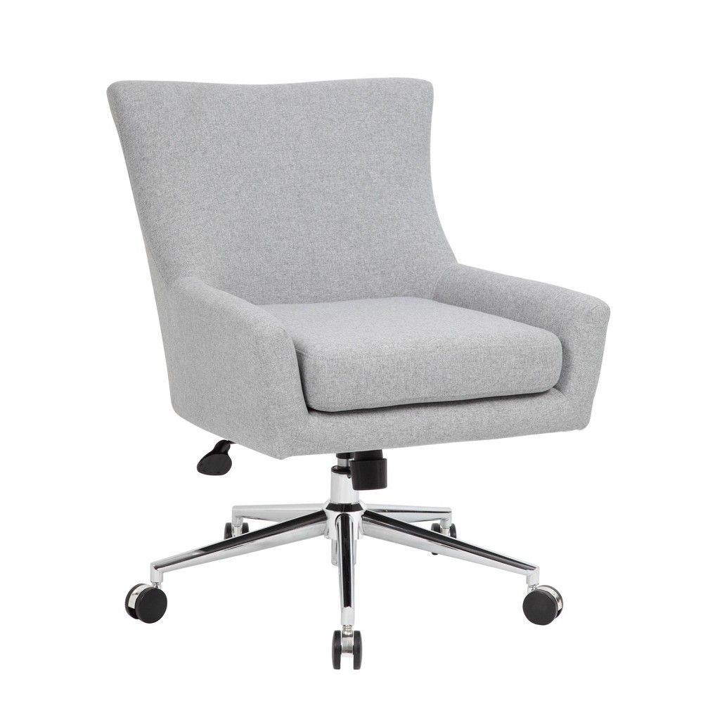 Accent Chair Granite Gray Boss Office Products Contemporary