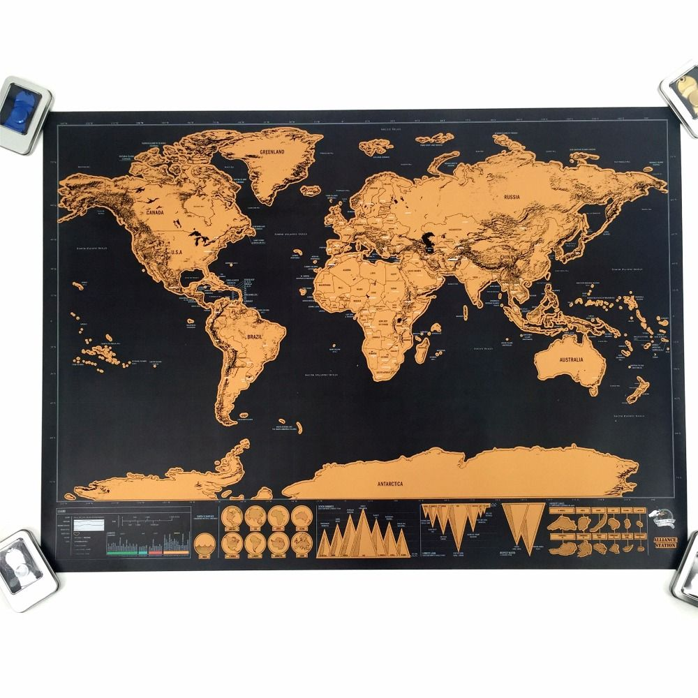 Pin by mindworthy on gold and black deluxe scratch off travel map cheap map world buy quality world map directly from china poster world suppliers 1 pc deluxe map personalized world map mini scrape off foil layer coating gumiabroncs Image collections
