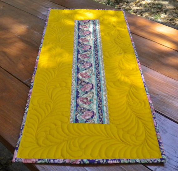 Quilted Table Topper Table Topper Quited Table Runner