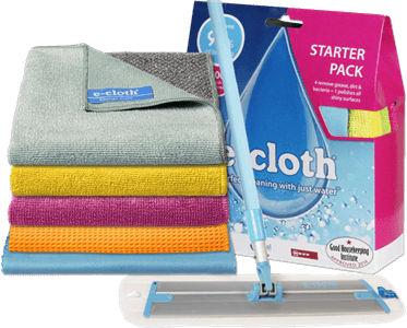 A revolutionary way to clean. Say goodbye to harmful chemicals and residues, e-cloth products use just water for cleaning unlike conventional cleaning cloths.