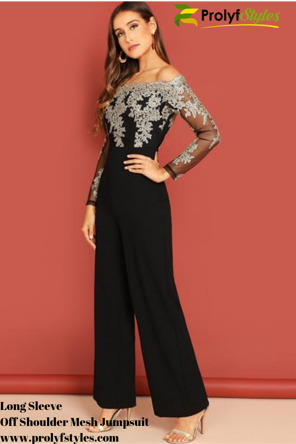 c71177bd37e43 You'll be the sight of pure elegance in this Long sleeve jumpsuit classy.  Long sleeve jumpsuit wide legs, wide leg jumpsuit formal.
