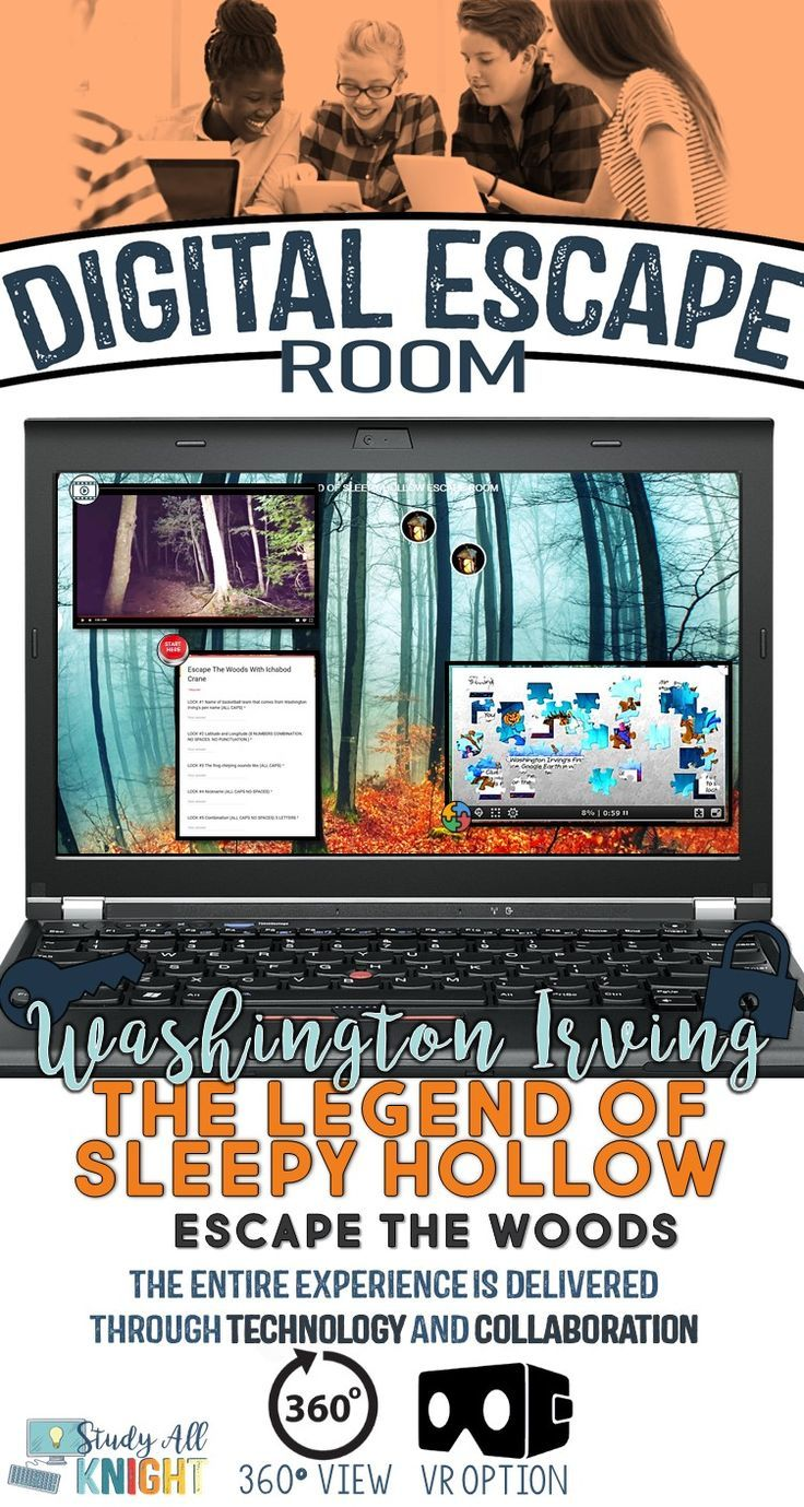 Digital Escape Room, The Legend of Sleepy Hollow, Escape