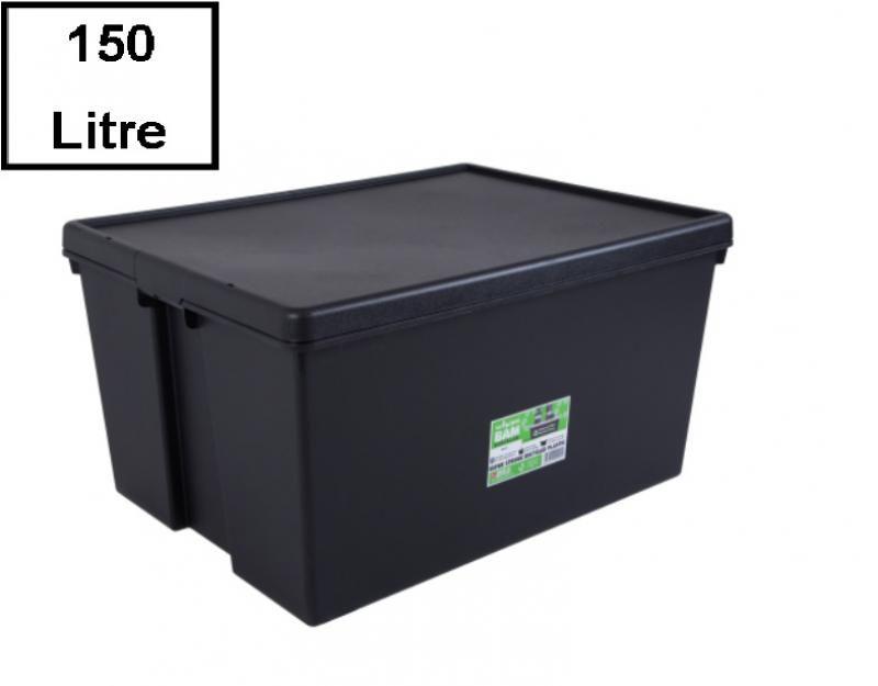 Wham Bam Heavy Duty Recycling Box 150 Liter Mit Deckel 80 X 60 X 42cm Schwarz Recycling Deckel Haltbar