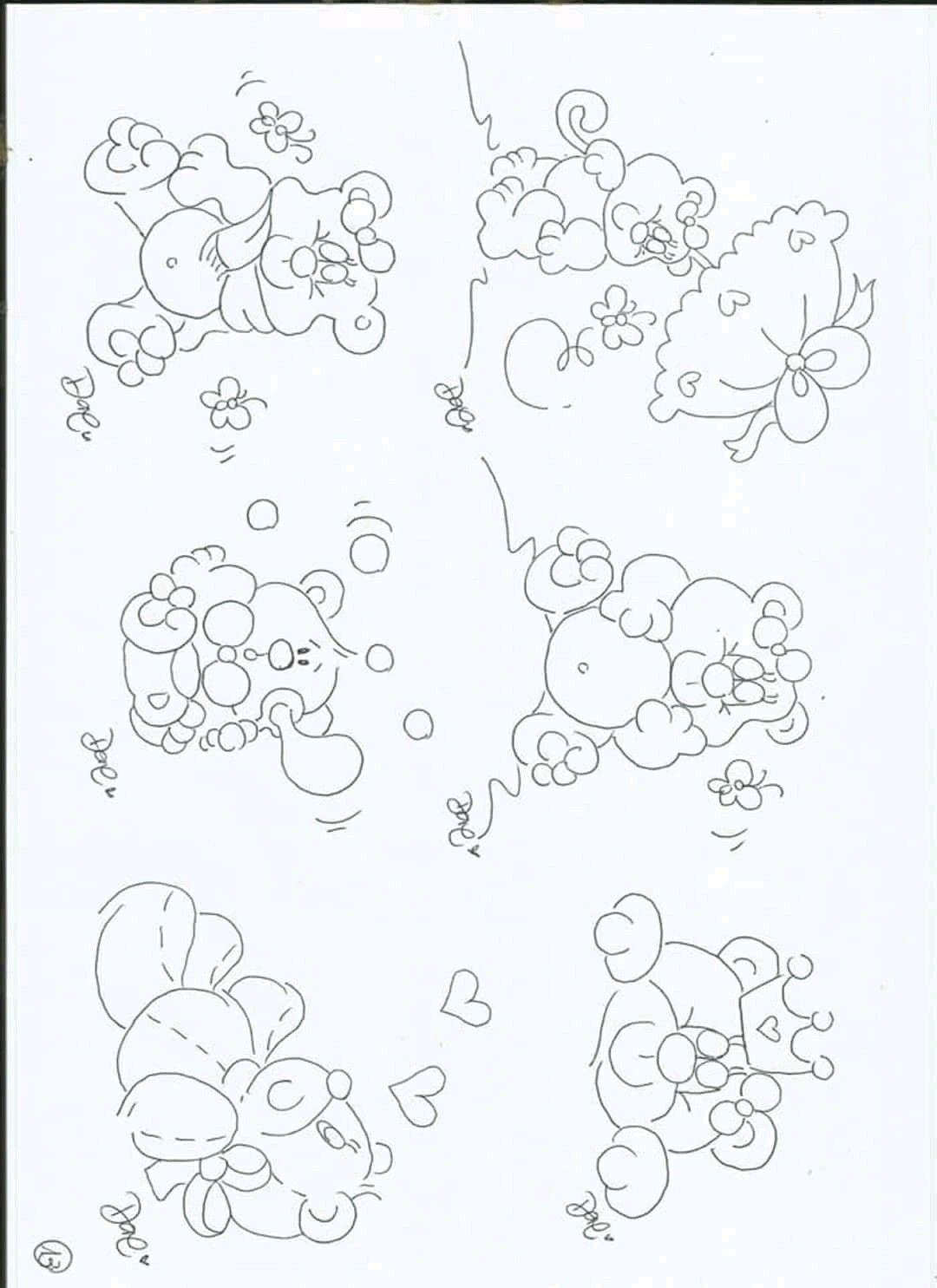 Pin De Luz Garcia Em Bordado Dibujos Riscos Para Pintura