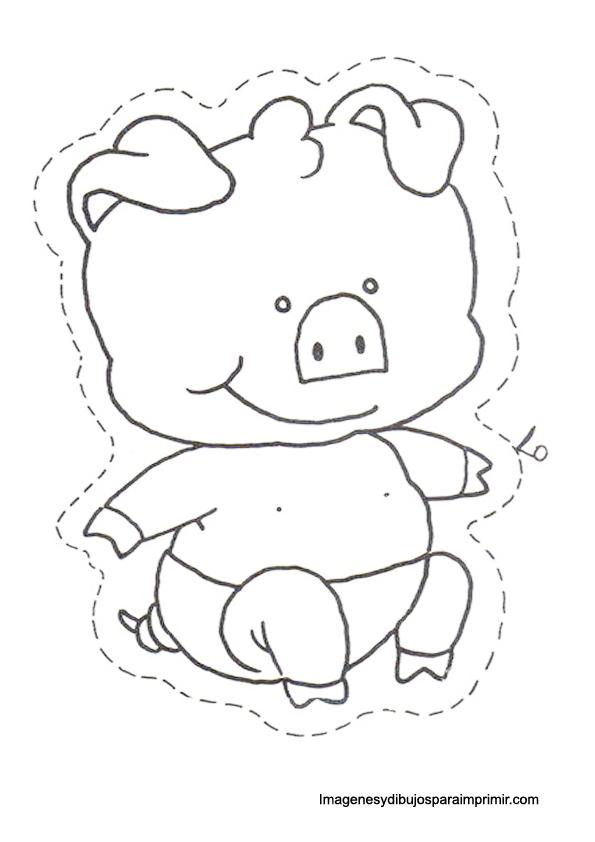 Cochon a imprimer | Allatok/animals crafts | Pinterest | Colorear ...