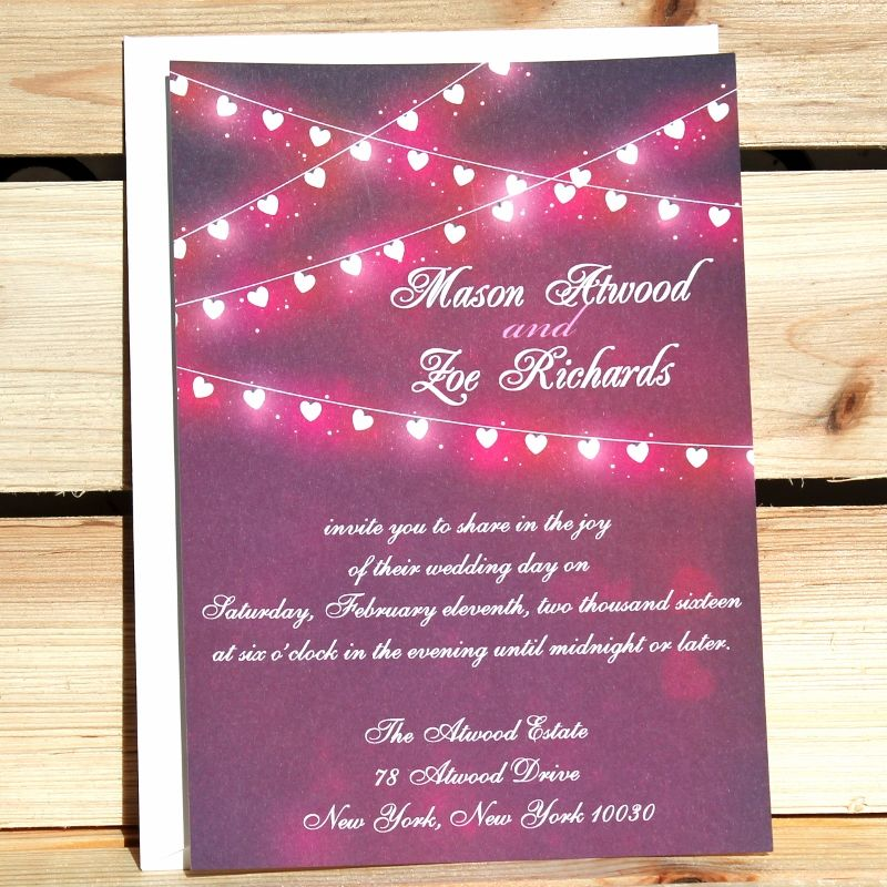Affordable Rustic ValentineS Day Wedding Invitations  Weddings
