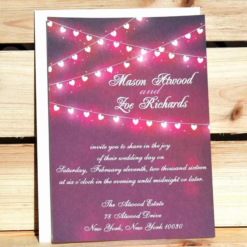 Affordable Rustic ValentineS Day Wedding Invitations Weddings