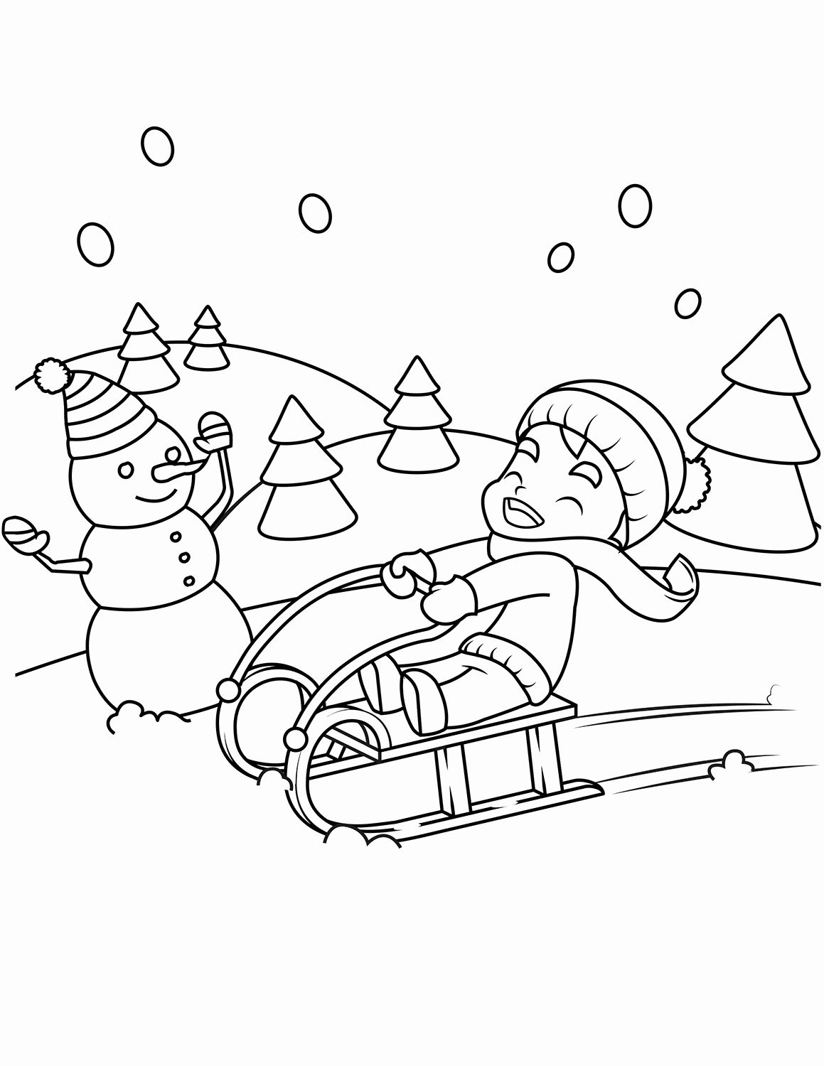 Coloring Pages for Kids Winter in 2020 | Coloring pages ...