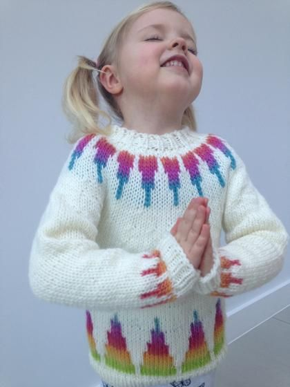Rainbow Spikes Children's Sweater #children'ssweaters