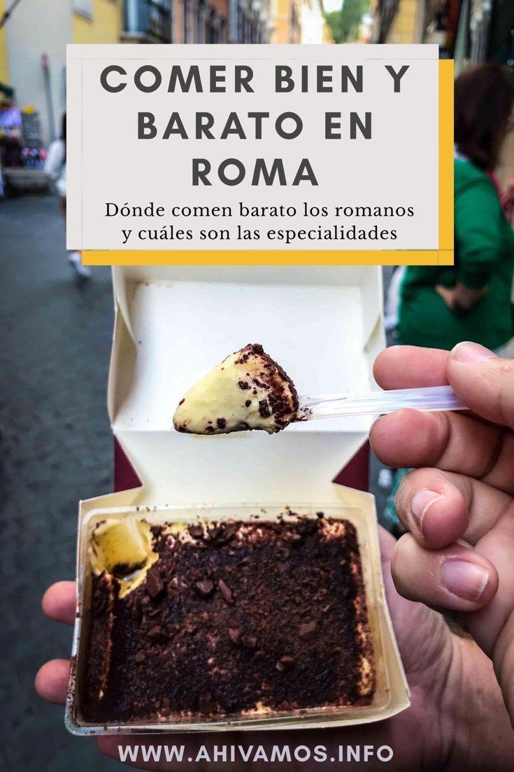 Lugares buenos y baratos para comer en Roma