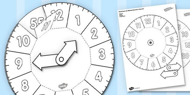 Clock Hours and Minutes Interactive Visual Aid - clock, aid ...