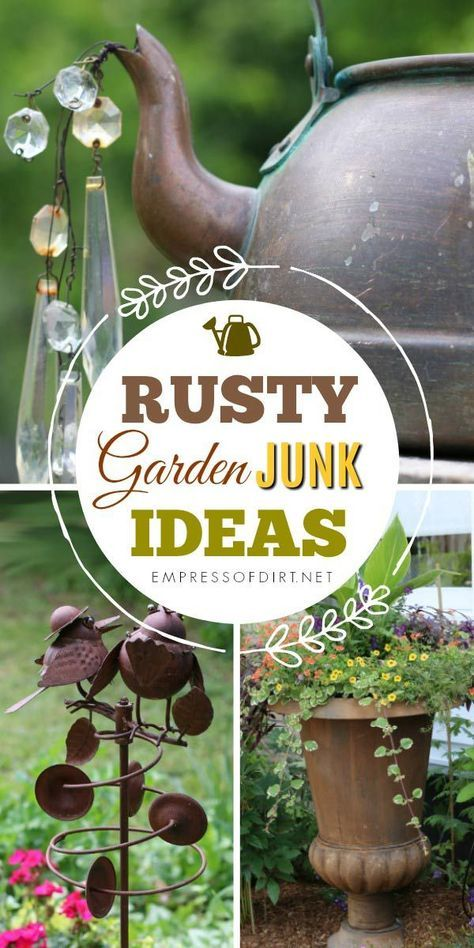 Rusty Garden Art Gallery is part of Rusty garden - Love rusty garden art  These ideas come from home gardens where the gardeners are clearly on Team Rust