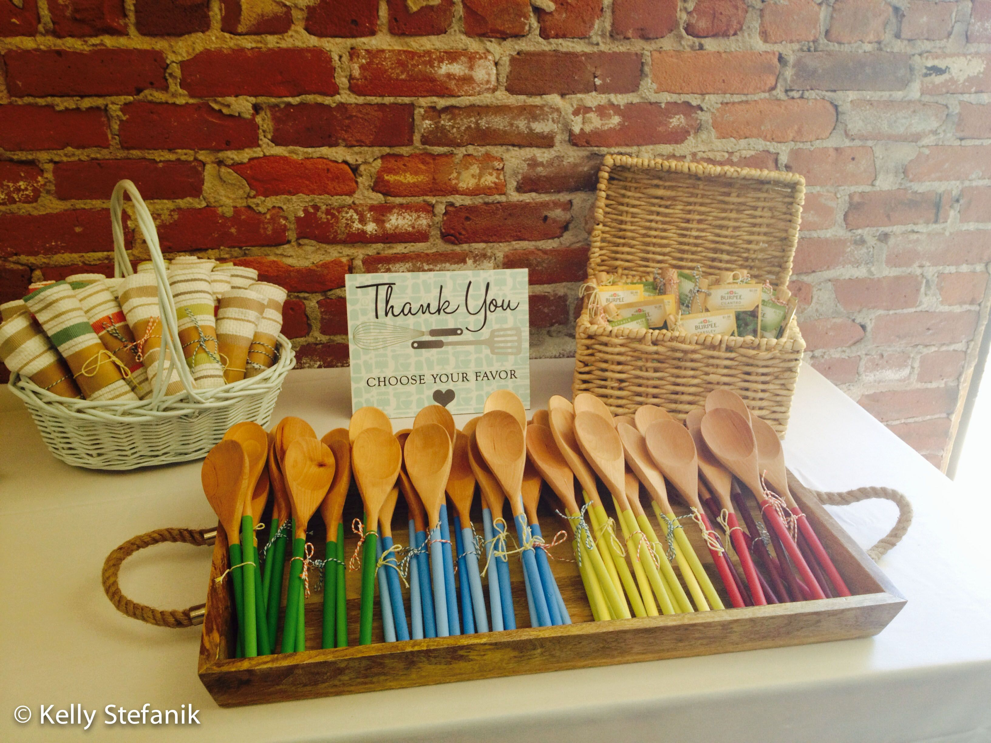kitchen themed bridal shower favors