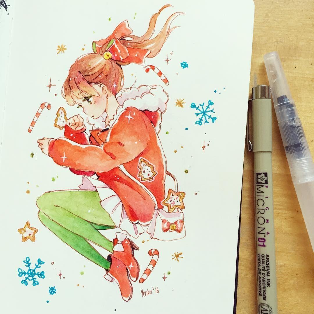 Hiiiiiiiiiiiiiiii Cute Drawings Anime Art Copic Marker Sketches