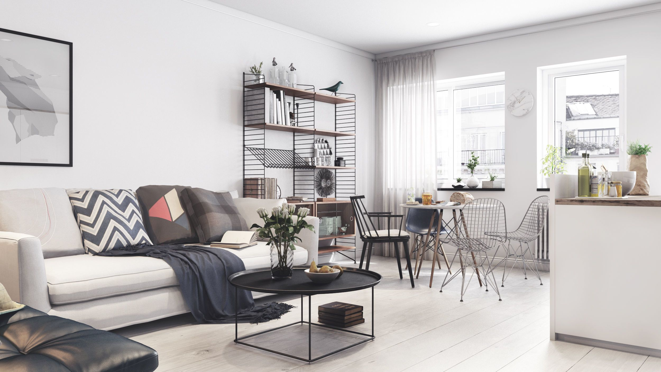 scandinavian apartment ready to render 3d model max obj mtl 1 - 3d Interior Modeling