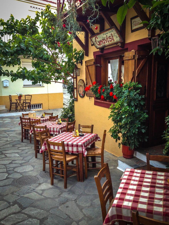 A Little Italian Restaurant In Skiathos Beauty Of The