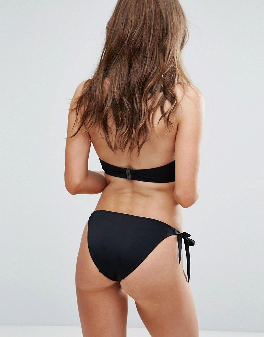 Clearance New Styles Get Authentic Stripe Bikini Bottom - Black/white Pour Moi vx4rA