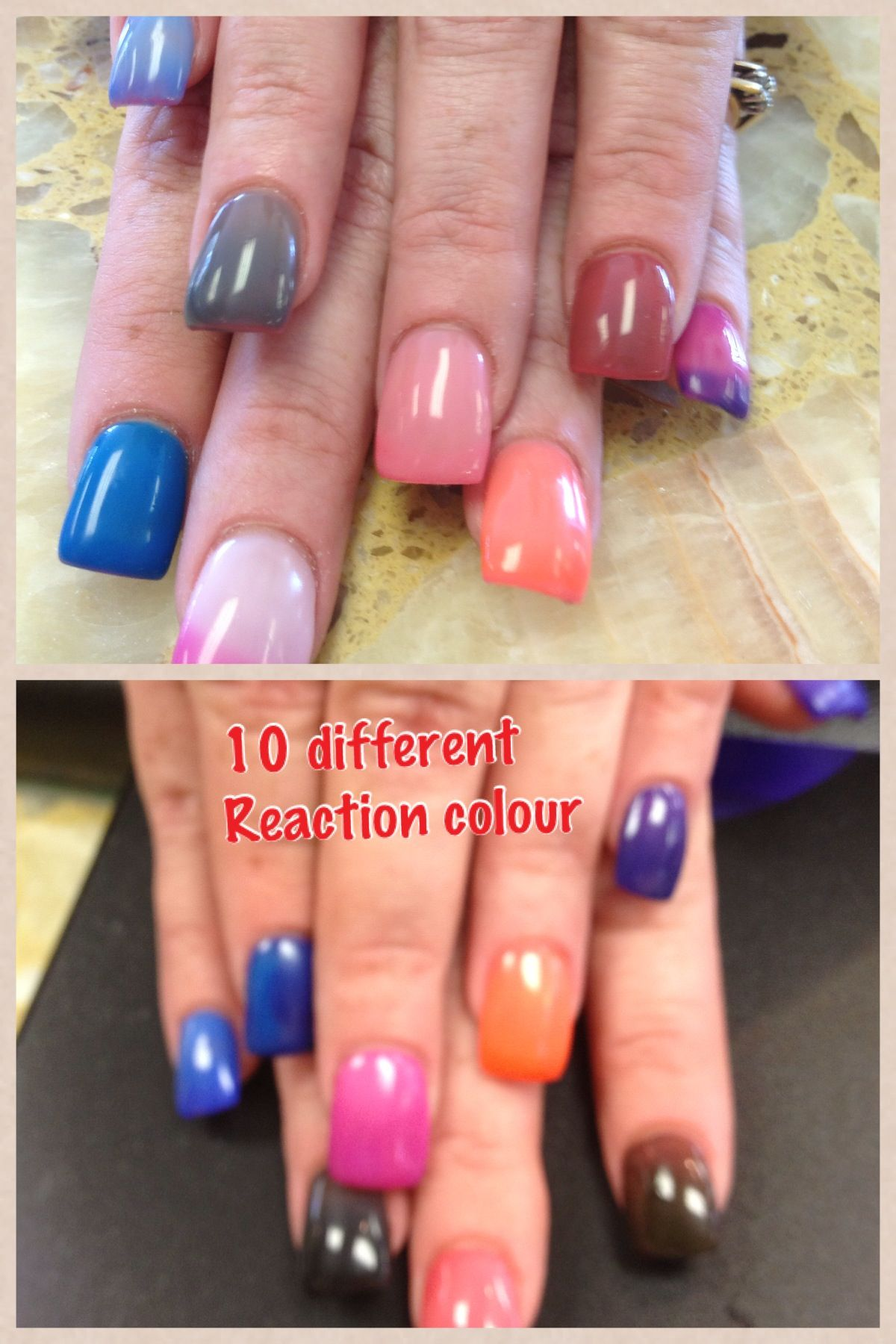 Gel 2 Manicure (10 different reaction colour) Clout changing by ...