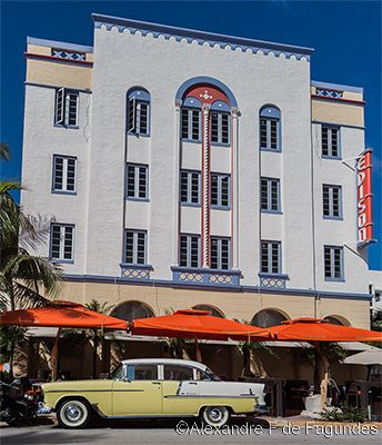 Edison Hotel Art Deco District Miami Beach Florida Arts