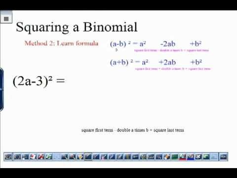 Elementary Algebraic Expressions Squaring A Binomial Algebraic Expressions Elementary Back To School Hacks