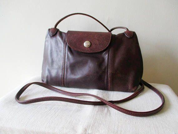 Petit sac en cuir LONGCHAMP Pliage cuir sac à main sac à | Etsy ...