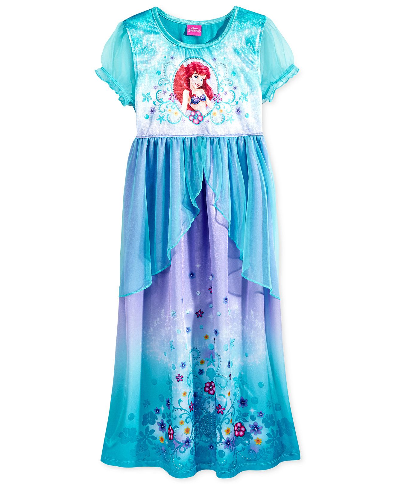 00eb6281c5 Disney Princess Girls  or Little Girls  Ariel Nightgown - Kids Pajamas -  Browse - Macy s