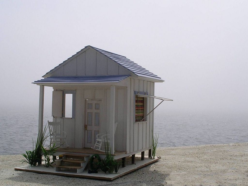 The Beach House dollhouse with the fog rolling in | by grazhina