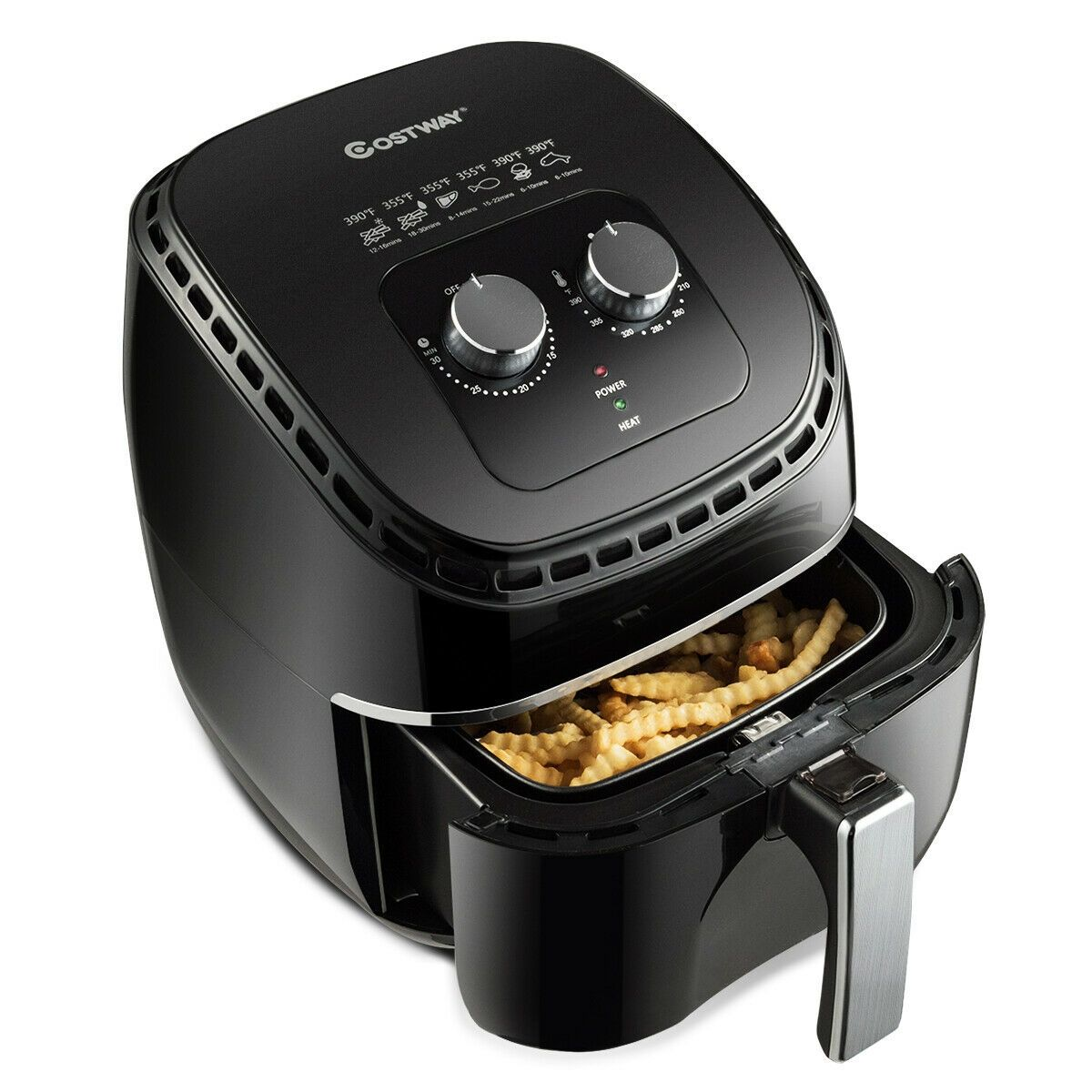 3.5 QT Electric 1300W Hot Air Fryer with Timer