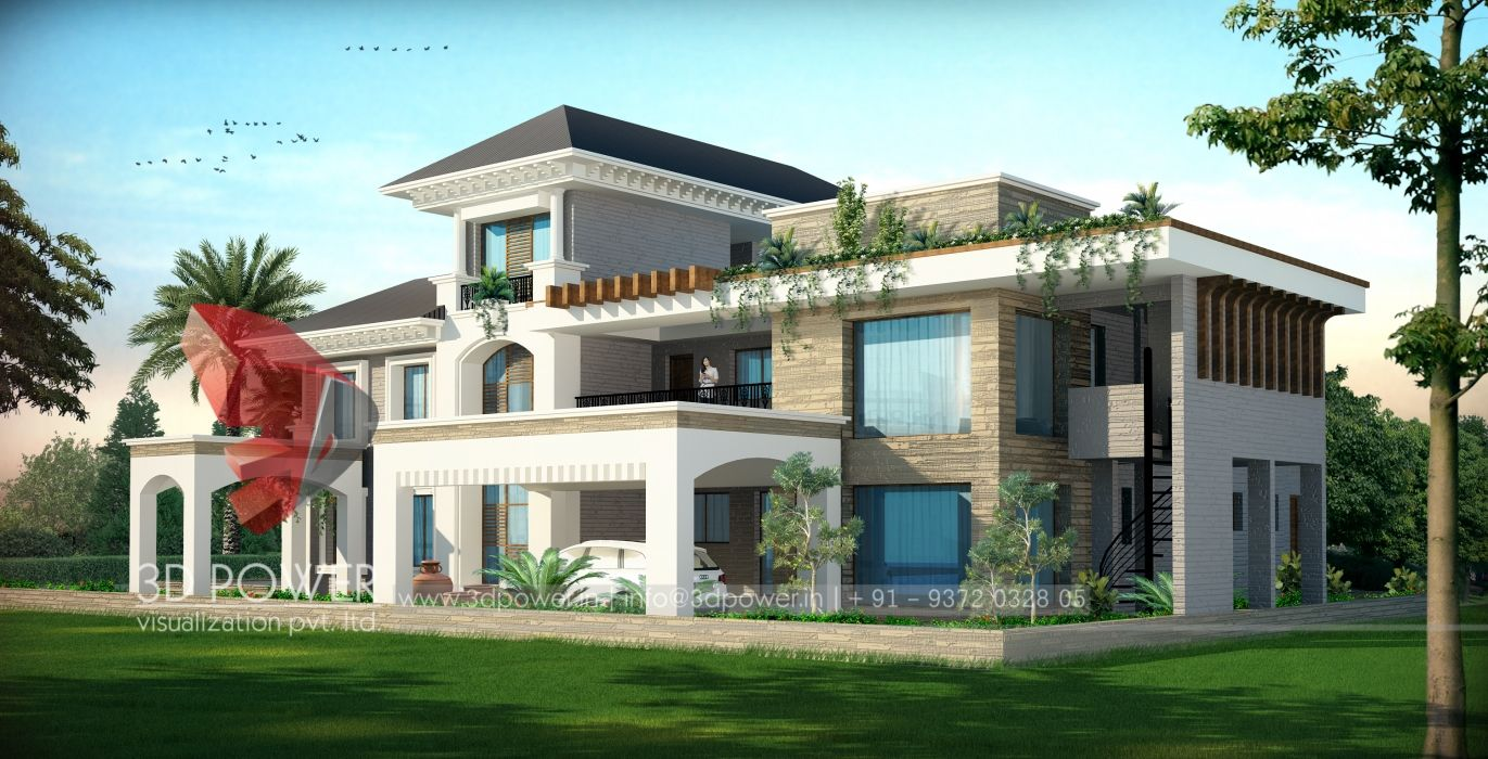 Ultra modern home designs township apartments design 3d rendering new modern image house