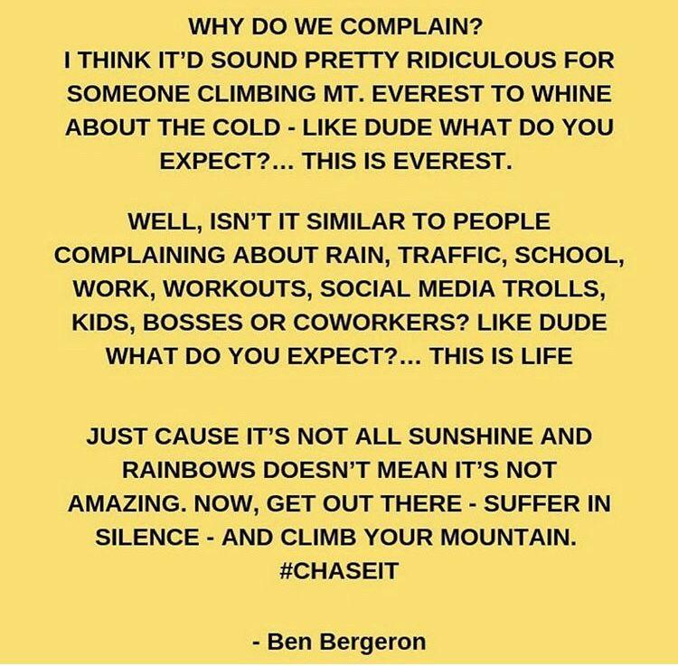 Stop complaining stop complaining complaining social media