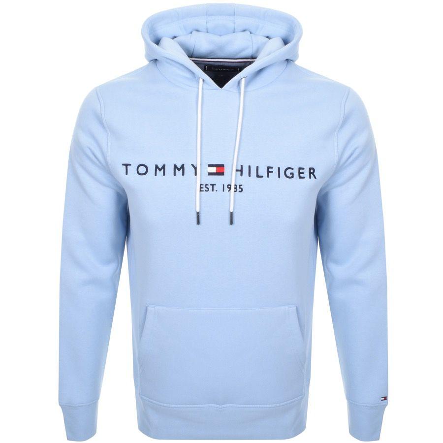 Tommy Hilfiger Mens Pullover Hoodie Blue