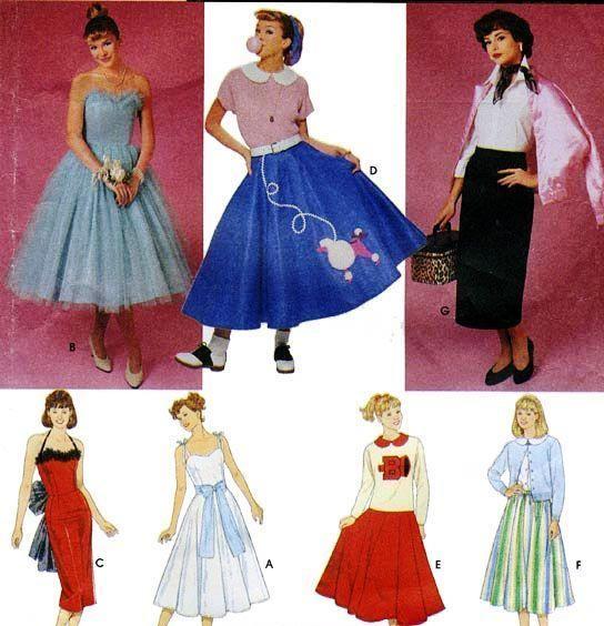 d0cf2949f2 Patrón de simplicidad grasa en el escenario década de 1950 Caniche Falda  Vestido De Graduación 16 18 20 8742