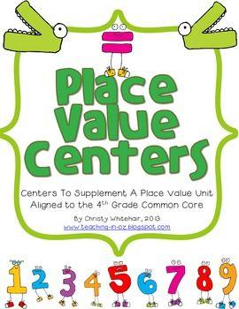 Differentiated 4th Grade Common Core Aligned Place Value Centers
