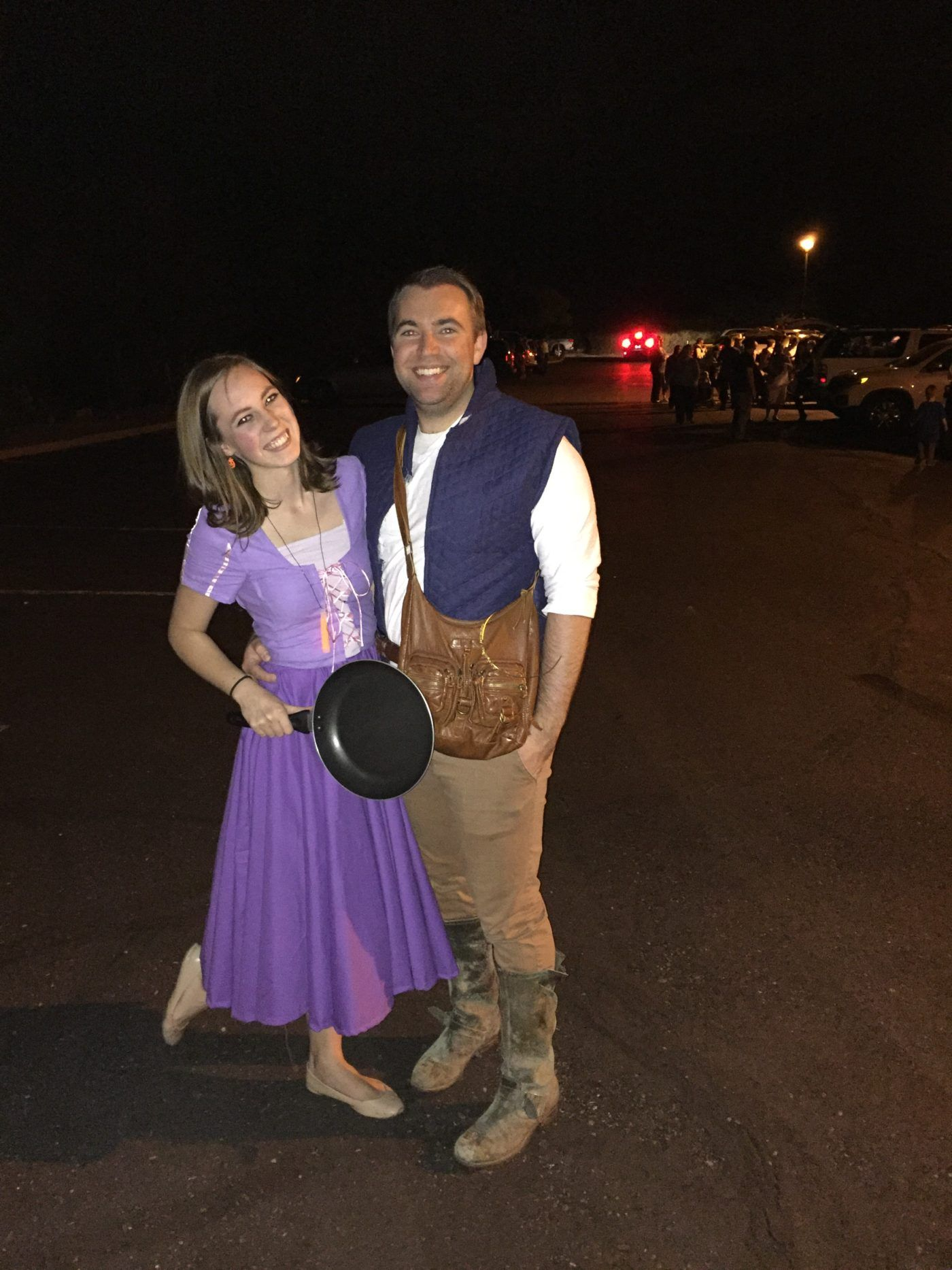 Diy Rapunzel Costume Flynn Rider Eugene Disney Halloween Couples Costume Costume Ideas Rapunzel Costume Couples Costumes Couple Halloween