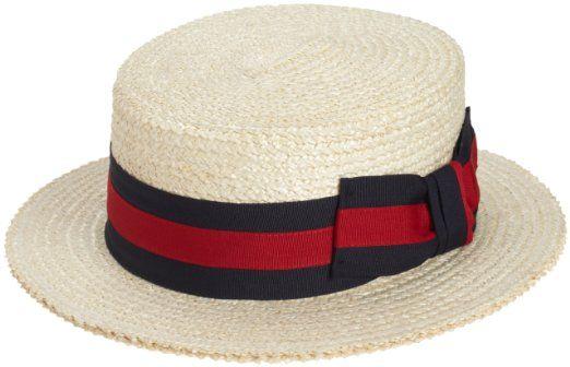 c7e129de035ed Amazon.com  Scala Men s Dress Straw 1 Piece 10 11Mm Laichow Braid Boater Hat   Clothing