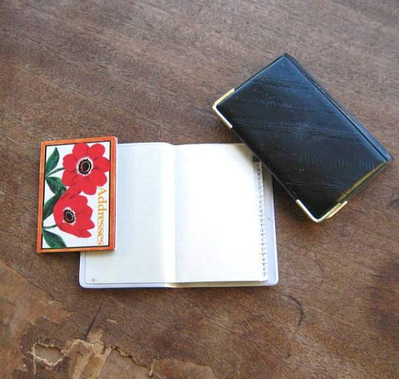 Vintage Phone/Address Books Choose Brown Leather w/ Indian Nickel