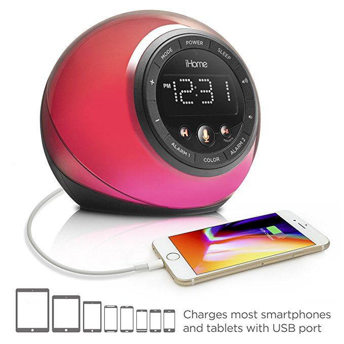 iHome iBT297 Appenhanced Bluetooth Color Changing Dual