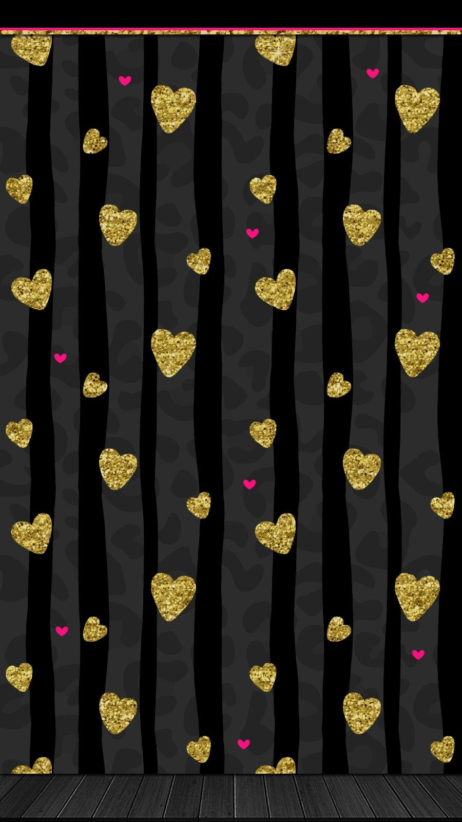 Valentinesday Black Gold Pink Love Wallpaper Iphone Android