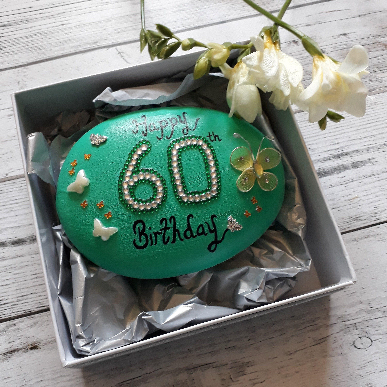 60th birthday gift for her 60th keepsake pebble for women
