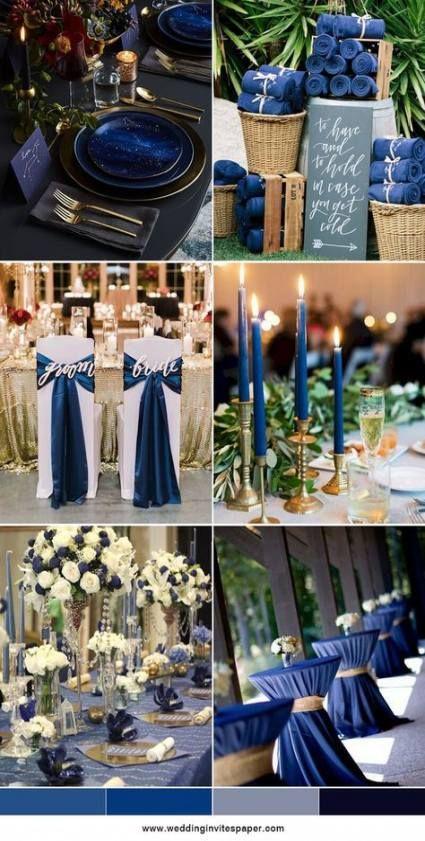 58 New ideas wedding centerpieces navy blue color inspiration -   16 wedding Blue winter ideas