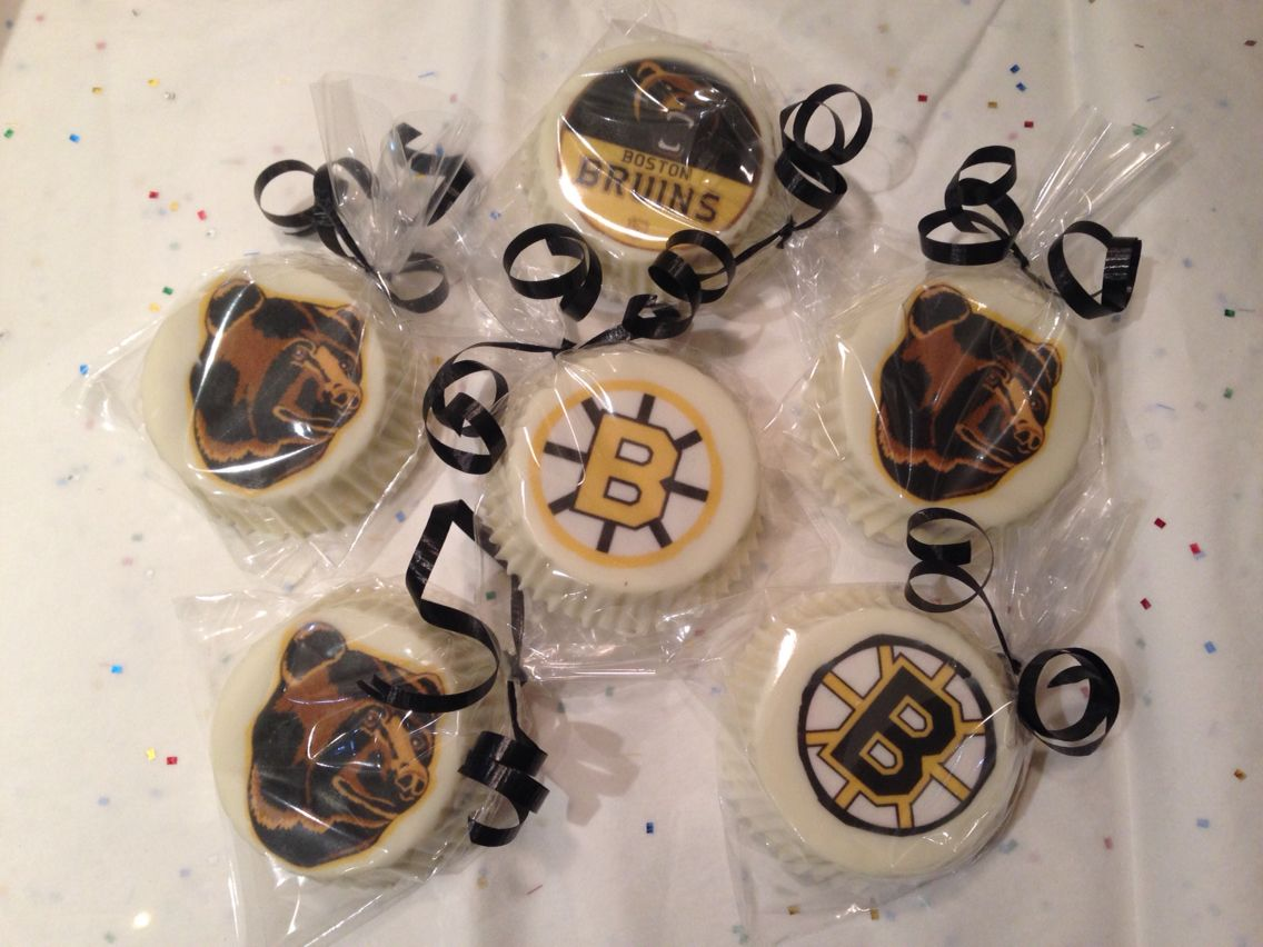 Boston bruins chocolate covered oreo