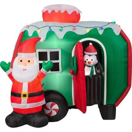 inflatable santa clause christmas decor walmartcom