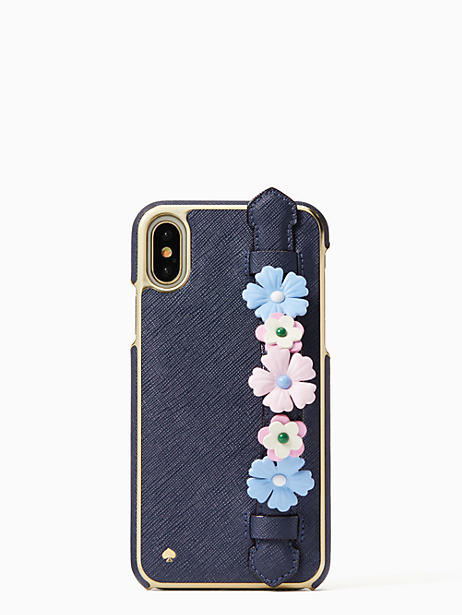 check out 25bf2 8a6dd Kate Spade Floral Hand Strap Stand Iphone X Case | Products | Iphone ...