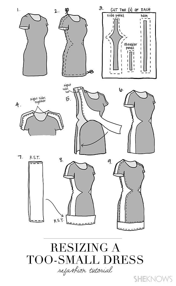 Salvage an old dress | Nähen, recycelte Kleidung und Nähmuster