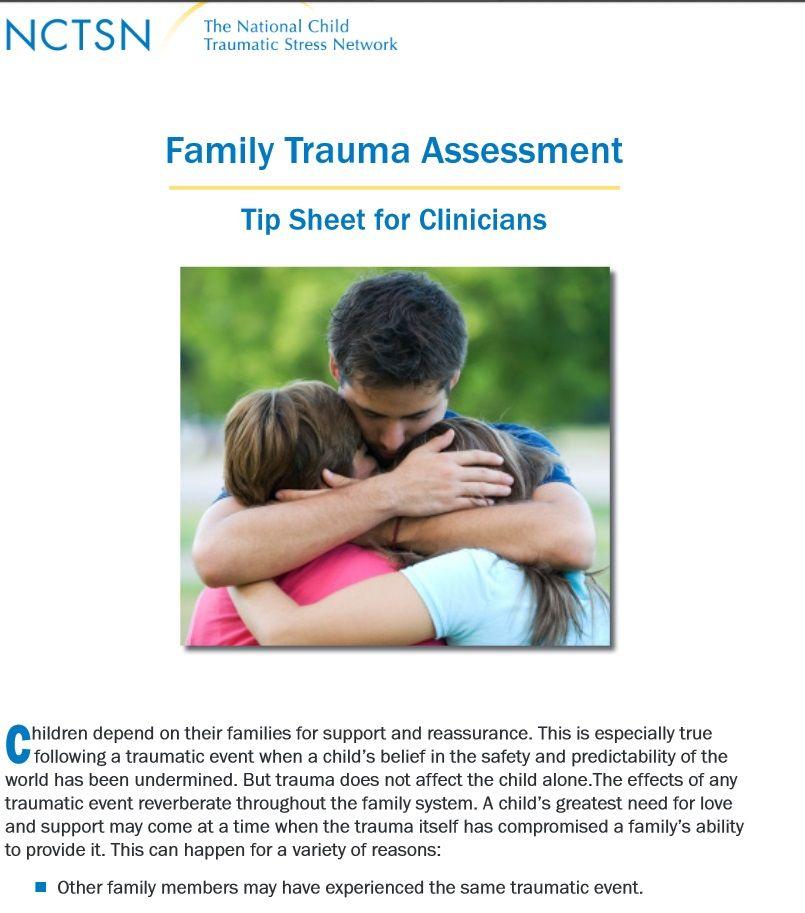 Family Trauma Assessment -Tip Sheet for Clinicians