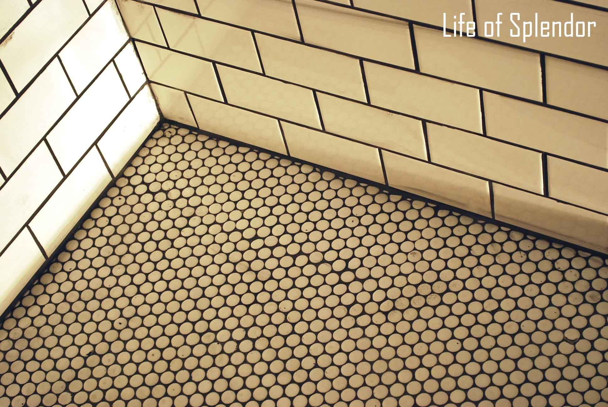 Subway Tile Walls Penny Tile Floor for an old house B A T H