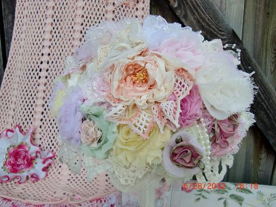 Rustic Bridal Bouquet Vintage Wedding Bouquet by AliceSiouxBridal