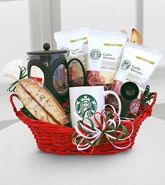 Starbucks coffee gift basket coffee in my cup for Gift ideas for craft lovers